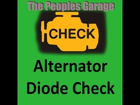 Alternator Diode Check and AC Ripple Check