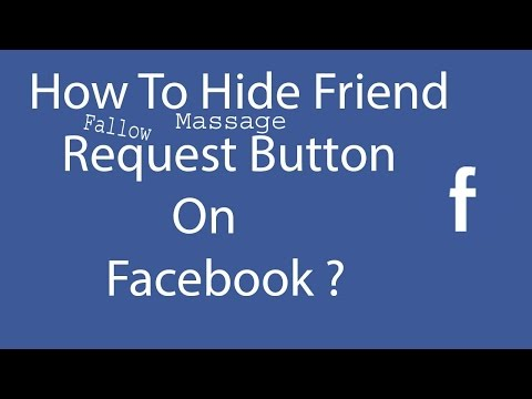 How to Hide Add Friend & Fallow & Message Button from Facebook Profile