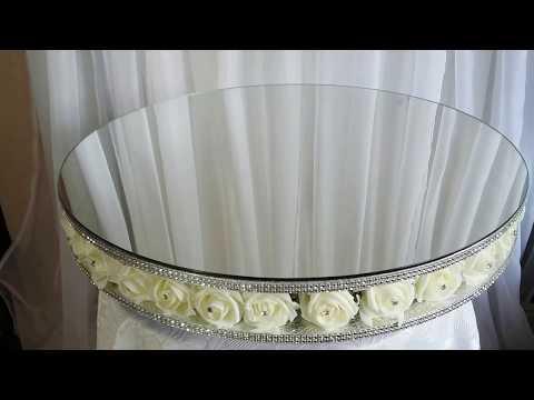 Rose Diamante cake stand