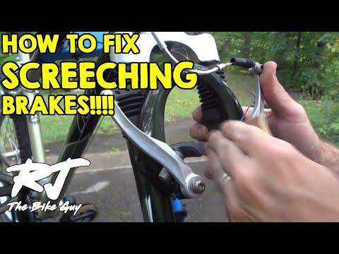 How To Fix Loud Squealing Screeching Bike Brakes