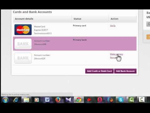 How to add bank account or card  ( skrill )