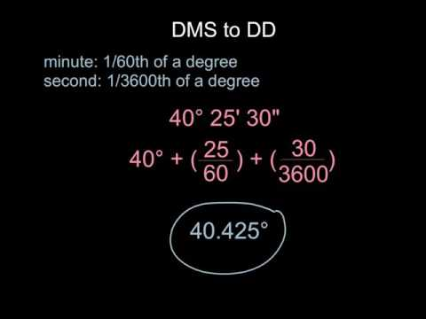 Topic 1, Section 4.1: Converting DD to DMS, DMS to DD, Radians to Degrees and Degrees to Radians