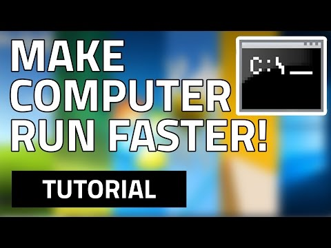 How To Make Your Computer/Laptop Run Faster (By Using CMD) HD