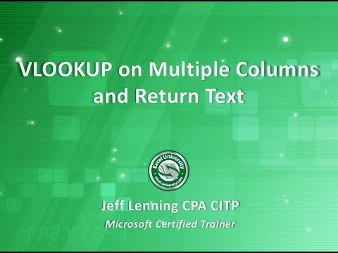 VLOOKUP on Multiple Columns and Return Text