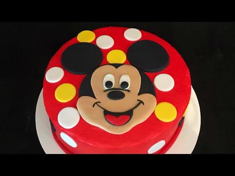 Como acer una carita de Mickey Mouse