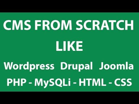 PHP Tutorials #2 - Advance CMS From Scratch like Wordpress , Drupal or Joomla