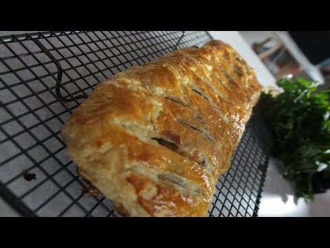 Chicken and mushroom wrapped in Puff pastry