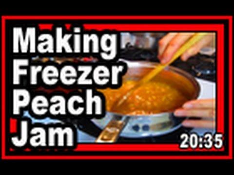 Freezer Peach Jam - Wisconsin Garden Video Blog 630