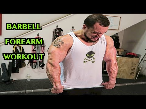 Intense 5 Minute Barbell Forearm Workout