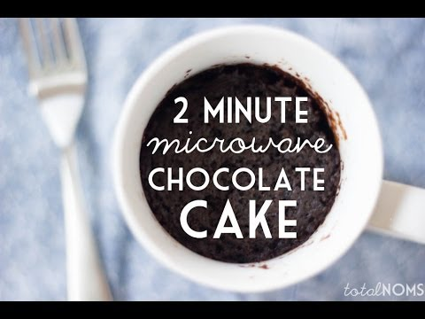 2 Minute Microwave Chocolate Cake | Easy Dessert | Total Noms