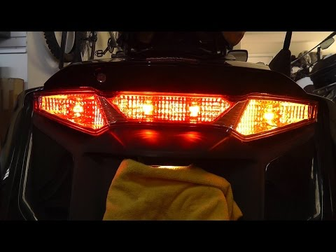 How to Convert Rear Signal Lights to Switchback Red and Amber for Goldwing F6B GL1800