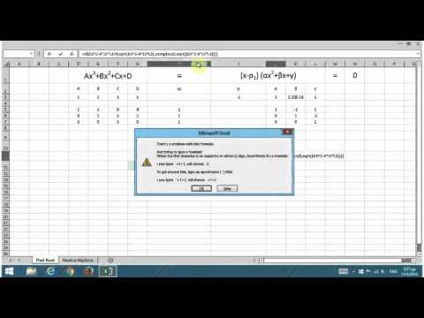 Find roots of ANY cubic equation (Including the complex roots)