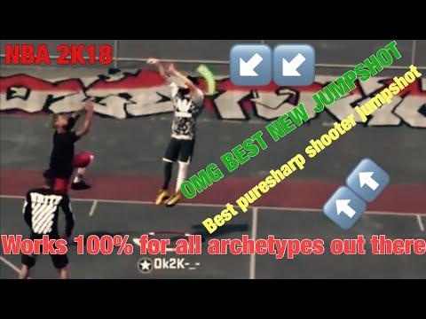 Best sharpshooter Jump shot on NBA 2K18(GREEN ONLY)