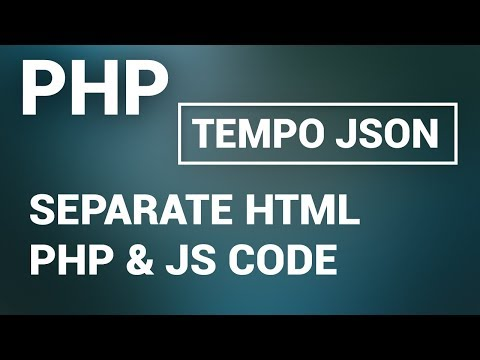 JSON - keep separate  html ,  js  & php code using Tempo JSON jquery plugin