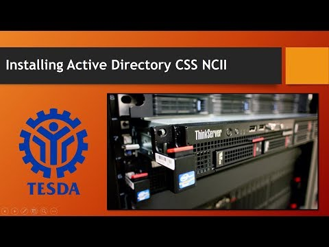 Installing Active Directory Domain Services CSS NCII