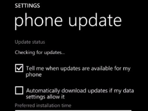 How to update your Microsoft windows phone 8 software
