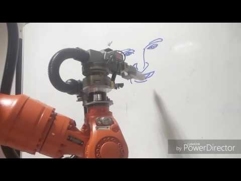 CIT KUKA Robot draws Dr Abdul Kalam face