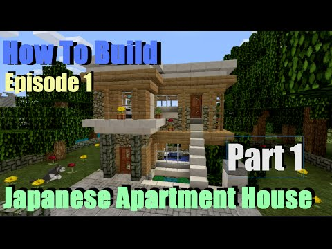 Minecraft- Very Small Modern House Tutorial - Japanese-Inspired (Part 1)