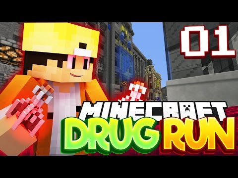 (18+) Minecraft Drug Run Server: BUSTED BY COPS! (Minecraft Drug Faction Server) #01