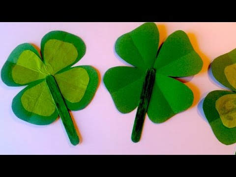 How to Make a Shamrock Fan for St. Patrick's Day - Easy Craft for Kids