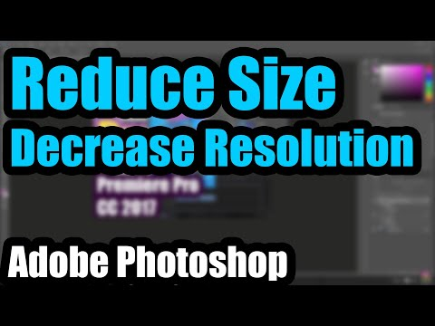 How to make an Image smaller in Photoshop 2017 (reduce Resolution & File-size)