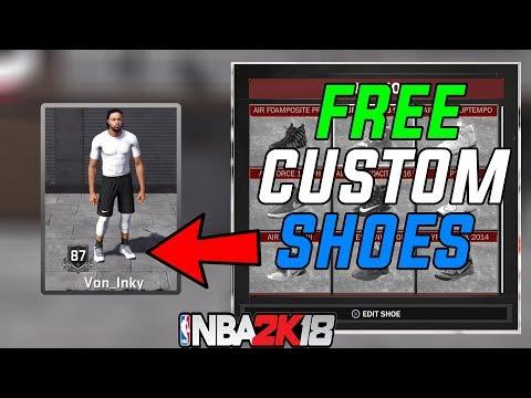 NBA 2K18 How To Get Free Custom Shoes ⋆#NBA2K18⋆