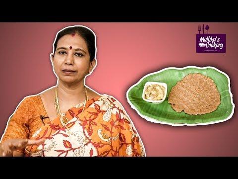 Samba Rava Roti | Mallika Badrinath Recipes | Diabetic Healthy | Oil Free Healthy Indian recipes