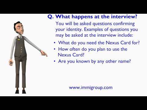What happens at the interview?