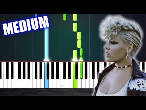 P!nk - What About Us - Piano Tutorial (MEDIUM) by PlutaX