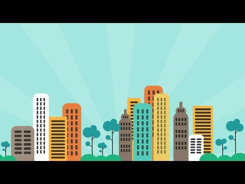 PowerPoint Animation Tutorial Motion Graphic City
