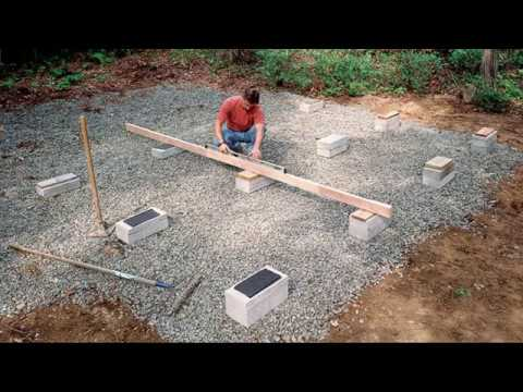 Shed-Building Methods: On-Grade Foundations
