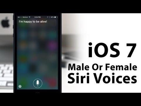 Hands-On iOS 7 Siri - How To Change Siri's Voice - Male Or Female