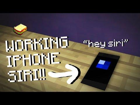 Minecraft, MCPE | How to make a Working iPhone Siri