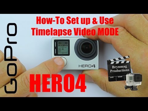 GoPro HERO4 - Version 2.00 Firmware - How to set up & Use Timelapse Video Mode