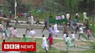 Tear gas at Kashmir rally India denies happened - BBC News
