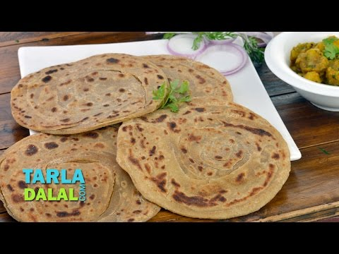 Lachha Paratha Recipe/ Whole Wheat multi Layered Indian Bread by Tarla Dalal