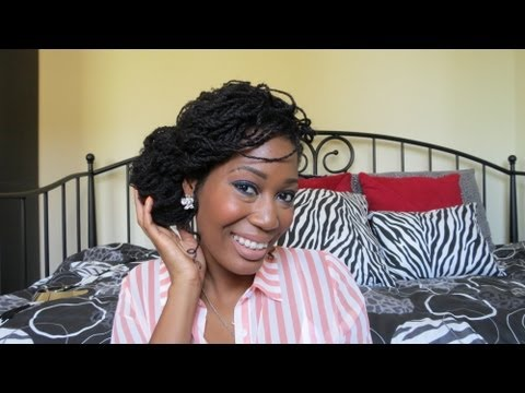Mini Twists Side Bun w/Marley Hair