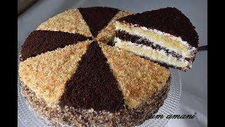 الكيكة الرهيبة التي ابهرت عائلتي بذوق الفانيليا والكاكاو  بشكل جديد ومقادير بسيطة