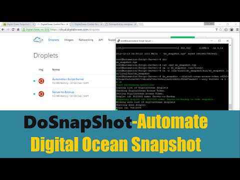 DoSnapShot-Automate Digital Ocean Snapshot (Ubuntu O.S)