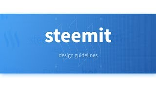 Steemitdesign.com - Fan-made Design Guidelines