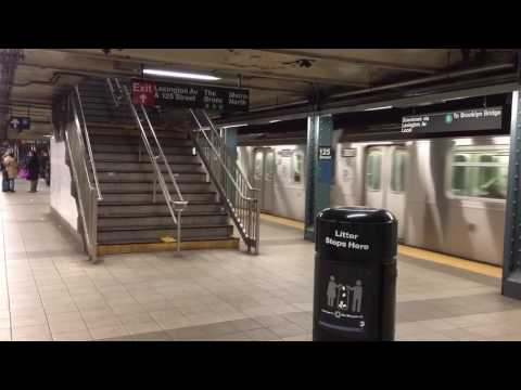 IRT Lexington Avenue Line: Downtown R142/A (4) and (6) Trains Departing 125th Street