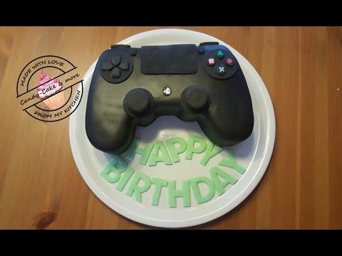 PS4 Torte I PlayStation PS Controller Cake I Controller Kuchen I Tutorial I Motivtorte