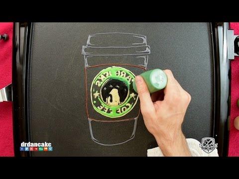 Starbucks Pancake Art