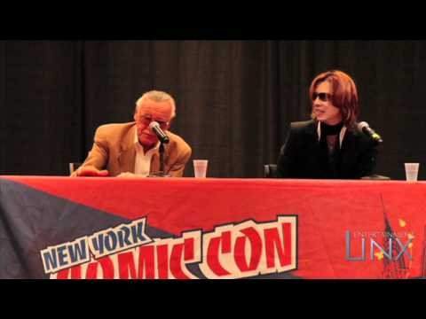 Yoshiki (X Japan) and Stan Lee Announcement Comic Con NYC 2010