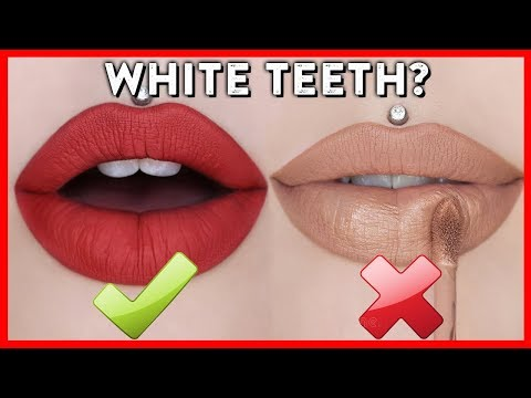 Lipstick Colors That Make Your Teeth Look White (And Which Make Them Look Yellow)