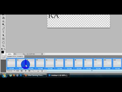 Beginners Text Animation Tutorial - Scrolling- Photoshop CS5