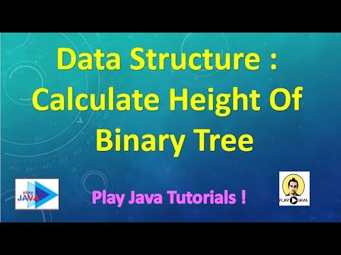 Data Structure in JAVA : Calculate the height of binary tree in java.