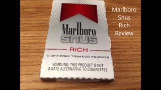 Marlboro Snus Rich Review