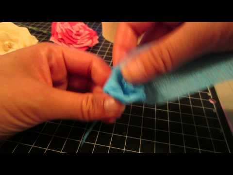 Streamer Crepe Flower Tutorial ~ Single Color