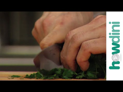 How to prepare and chop parsley and herbs
